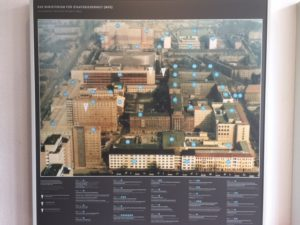 Aerial view of the vast Stasi HQ