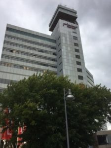 Looking up at the RBB tower block