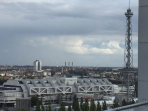 View of the Funkturm from the Dachlounge terrace