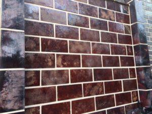 Close-up of the brickwork