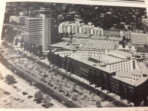 1980s aerial view of the SFB buildings