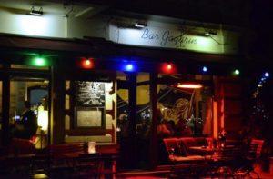 Bar Gargarin at night