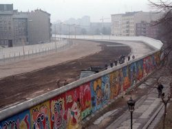 Berlin Wall seen from the wes