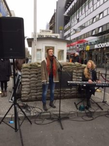 Checkpoint Charlie Then and Now - Ukrainian duo