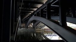 The River Spree under Friedrichstrasse railway bridge