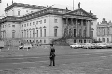 Outside the Staatsoper in the 1980s