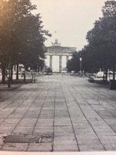 A deserted Unter den Linden in 1984